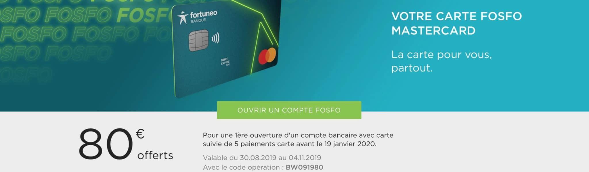 Fortuneo lance Fosfo le compte sans frais à l'étranger