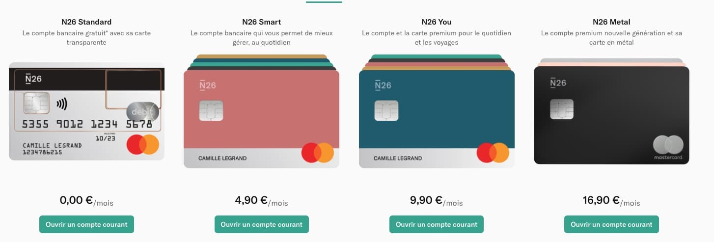 N26 Compte Courant Perso