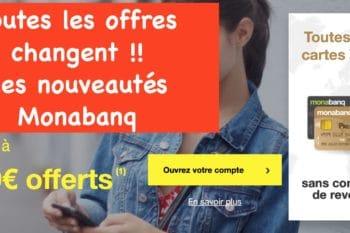Monabanq : nouvelles offres tarifaires