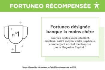 Fortuneo élue banque la moins chère pour …