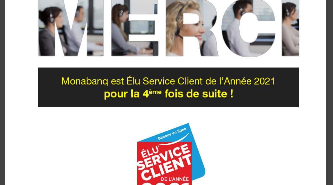 Monabanq élue service clients 2021