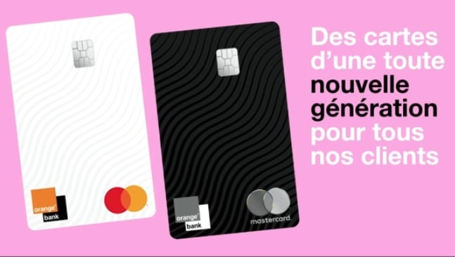Orange Bank Nouvelles Cartes