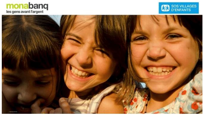 Monabanq 1 compte = 1 bonne action avec SOS Villages d'Enfants