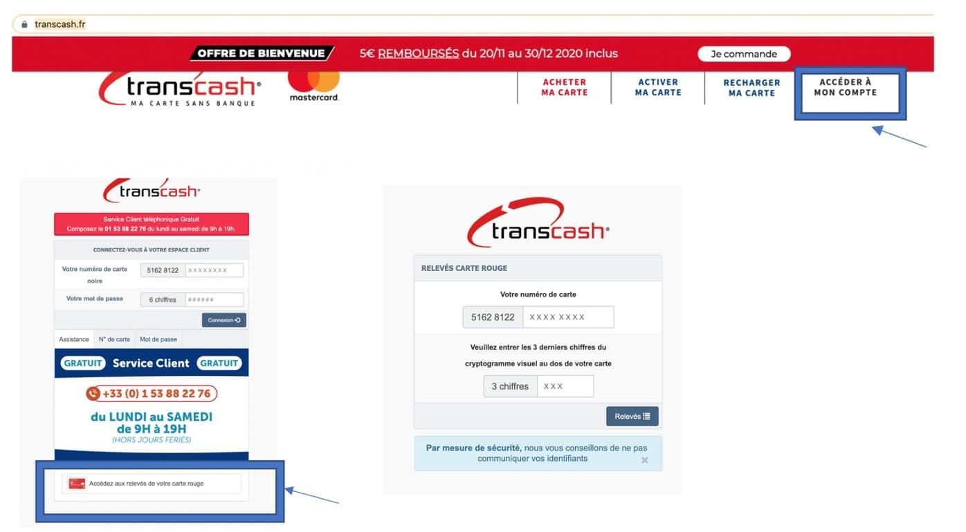 Transcash Acces Soldes Du Compte