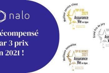 Nalo gagne 3 récompenses pour son assurance vie