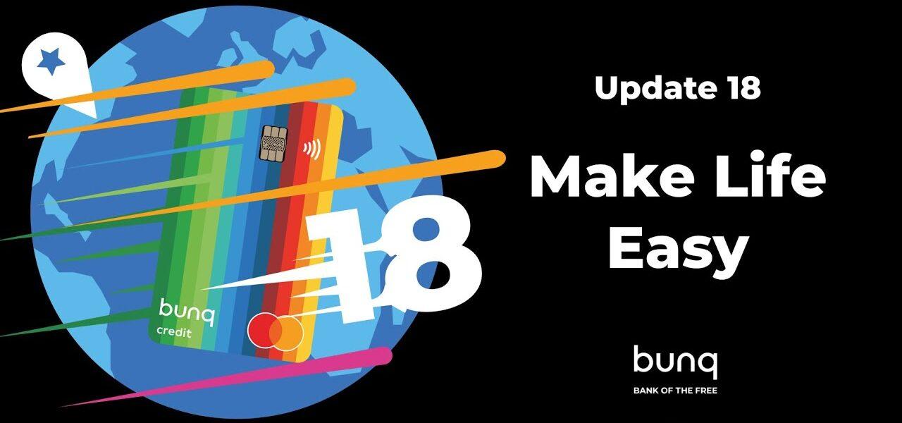 bunq : Update 18 le point sur les nouveautés